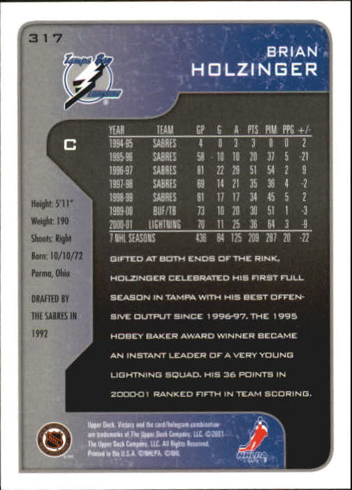 2001-02-Upper-Deck-Victory-Hk-Cards-251-440-A5960-You-Pick-10-FREE-SHIP miniature 135
