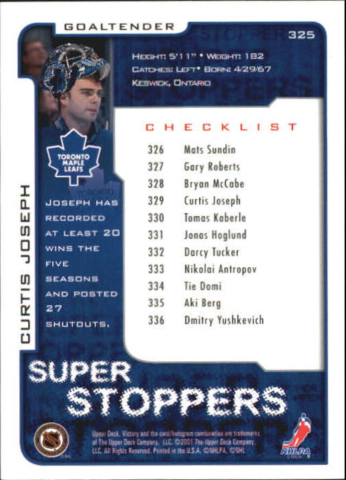 2001-02-Upper-Deck-Victory-Hk-Cards-251-440-A5960-You-Pick-10-FREE-SHIP miniature 151