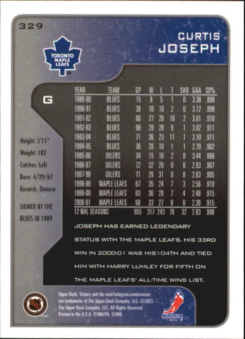 2001-02-Upper-Deck-Victory-Hk-Cards-251-440-A5960-You-Pick-10-FREE-SHIP miniature 159