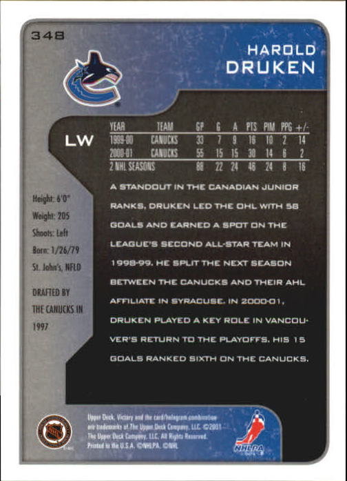 2001-02-Upper-Deck-Victory-Hk-Cards-251-440-A5960-You-Pick-10-FREE-SHIP miniature 197