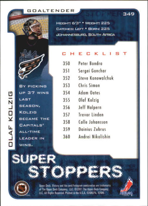 2001-02-Upper-Deck-Victory-Hk-Cards-251-440-A5960-You-Pick-10-FREE-SHIP miniature 199