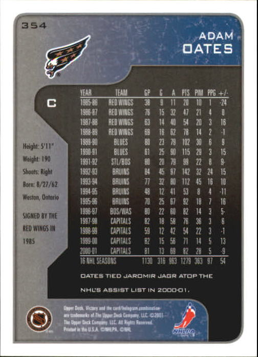 2001-02-Upper-Deck-Victory-Hk-Cards-251-440-A5960-You-Pick-10-FREE-SHIP miniature 209