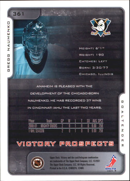 2001-02-Upper-Deck-Victory-Hk-Cards-251-440-A5960-You-Pick-10-FREE-SHIP miniature 223