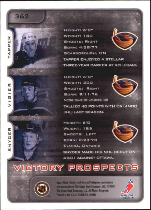 2001-02-Upper-Deck-Victory-Hk-Cards-251-440-A5960-You-Pick-10-FREE-SHIP miniature 225