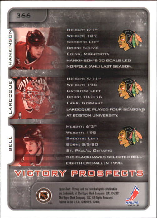 2001-02-Upper-Deck-Victory-Hk-Cards-251-440-A5960-You-Pick-10-FREE-SHIP miniature 229