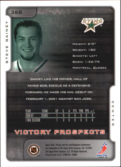 2001-02-Upper-Deck-Victory-Hk-Cards-251-440-A5960-You-Pick-10-FREE-SHIP miniature 233