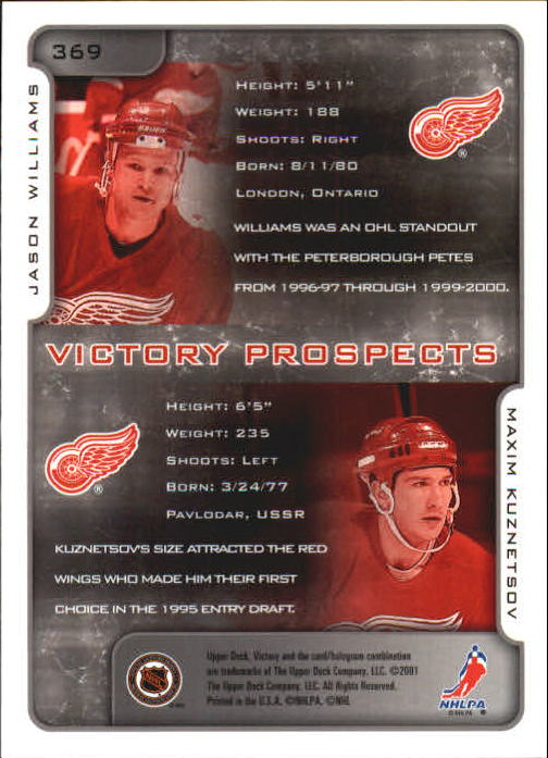 2001-02-Upper-Deck-Victory-Hk-Cards-251-440-A5960-You-Pick-10-FREE-SHIP miniature 235