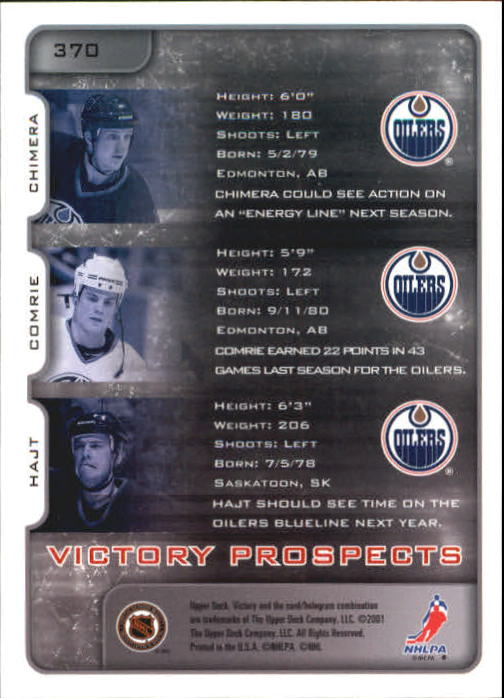 2001-02-Upper-Deck-Victory-Hk-Cards-251-440-A5960-You-Pick-10-FREE-SHIP miniature 237