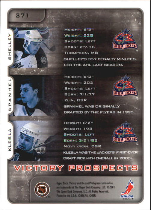 2001-02-Upper-Deck-Victory-Hk-Cards-251-440-A5960-You-Pick-10-FREE-SHIP miniature 239