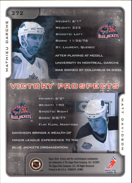2001-02-Upper-Deck-Victory-Hk-Cards-251-440-A5960-You-Pick-10-FREE-SHIP miniature 241
