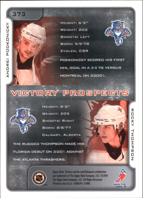 2001-02-Upper-Deck-Victory-Hk-Cards-251-440-A5960-You-Pick-10-FREE-SHIP miniature 243