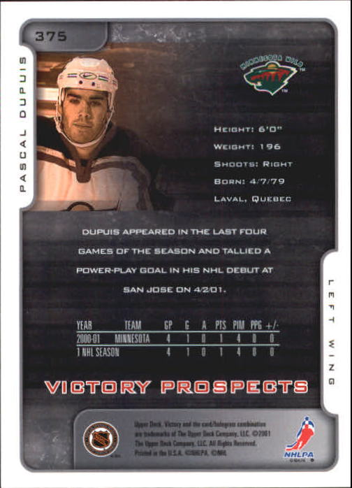 2001-02-Upper-Deck-Victory-Hk-Cards-251-440-A5960-You-Pick-10-FREE-SHIP miniature 247