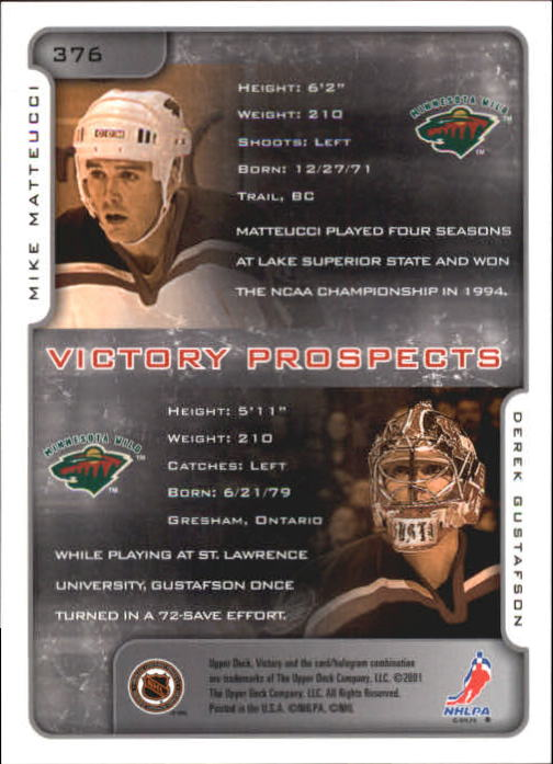 2001-02-Upper-Deck-Victory-Hk-Cards-251-440-A5960-You-Pick-10-FREE-SHIP miniature 249