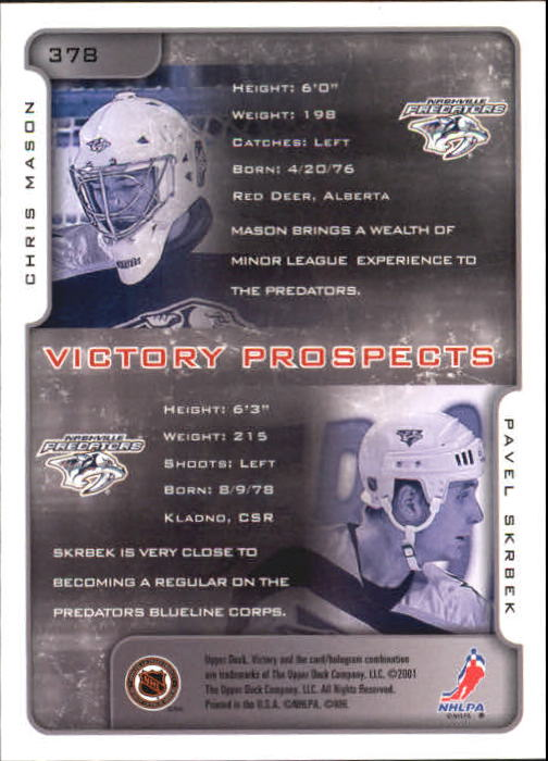 2001-02-Upper-Deck-Victory-Hk-Cards-251-440-A5960-You-Pick-10-FREE-SHIP miniature 253