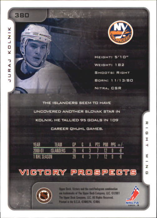 2001-02-Upper-Deck-Victory-Hk-Cards-251-440-A5960-You-Pick-10-FREE-SHIP miniature 257