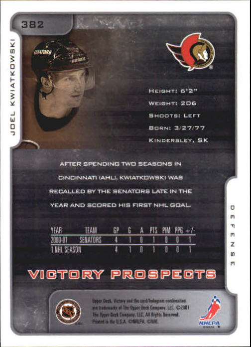 2001-02-Upper-Deck-Victory-Hk-Cards-251-440-A5960-You-Pick-10-FREE-SHIP miniature 259