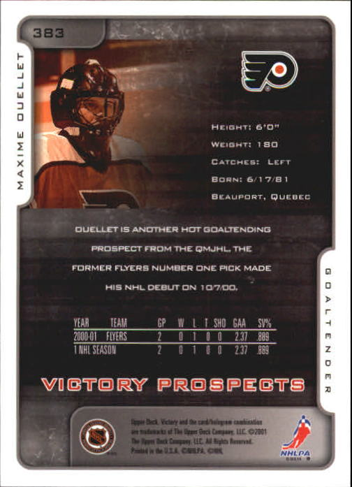 2001-02-Upper-Deck-Victory-Hk-Cards-251-440-A5960-You-Pick-10-FREE-SHIP miniature 261