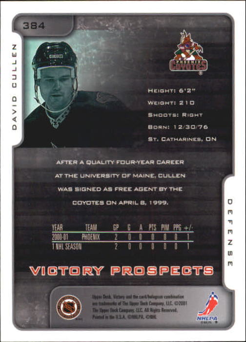 2001-02-Upper-Deck-Victory-Hk-Cards-251-440-A5960-You-Pick-10-FREE-SHIP miniature 263