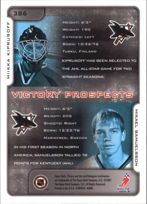 2001-02-Upper-Deck-Victory-Hk-Cards-251-440-A5960-You-Pick-10-FREE-SHIP miniature 265