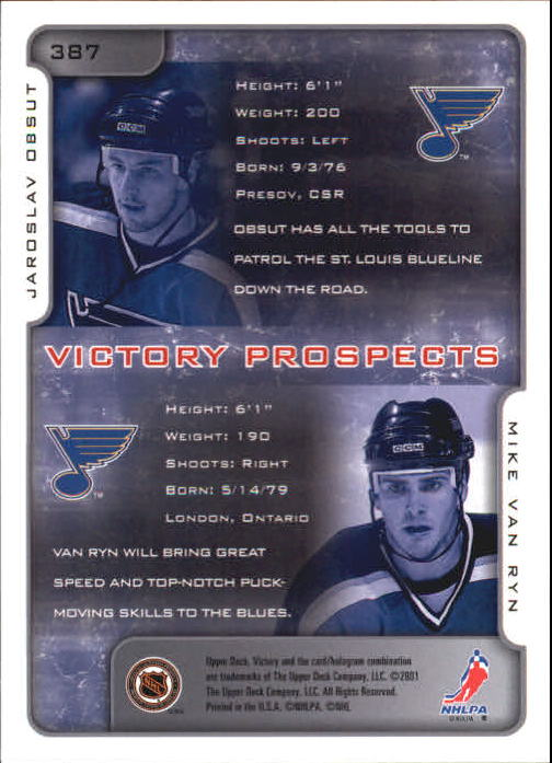 2001-02-Upper-Deck-Victory-Hk-Cards-251-440-A5960-You-Pick-10-FREE-SHIP miniature 267
