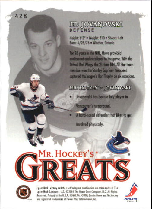 2001-02-Upper-Deck-Victory-Hk-Cards-251-440-A5960-You-Pick-10-FREE-SHIP miniature 347
