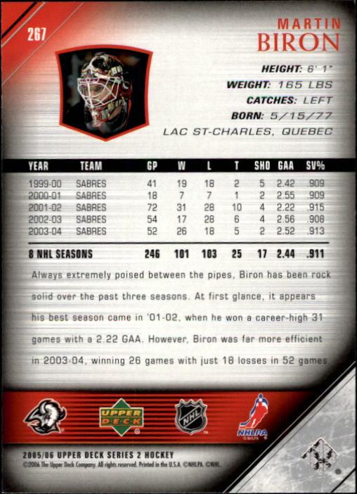 2005-06-Upper-Deck-Hockey-Card-Pick-251-487 thumbnail 35