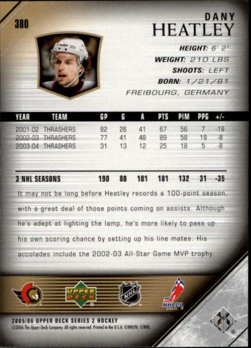 2005-06-Upper-Deck-Hockey-Card-Pick-251-487 thumbnail 261