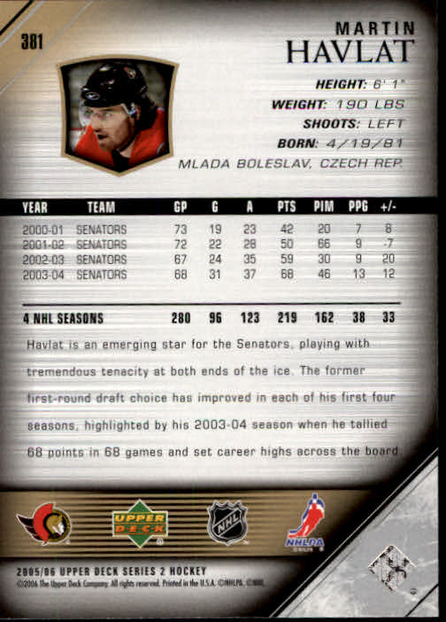 2005-06-Upper-Deck-Hockey-Card-Pick-251-487 thumbnail 263