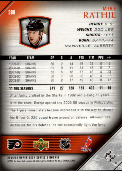 2005-06-Upper-Deck-Hockey-Card-Pick-251-487 thumbnail 277
