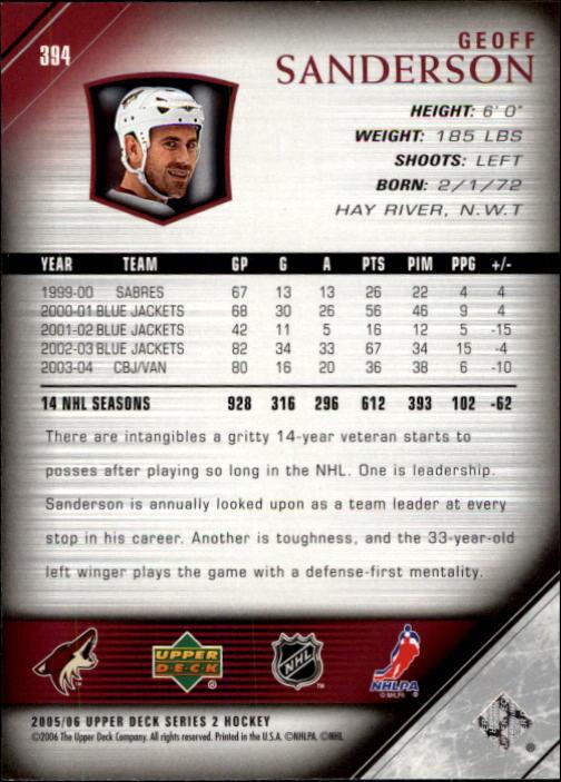 2005-06-Upper-Deck-Hockey-Card-Pick-251-487 thumbnail 289