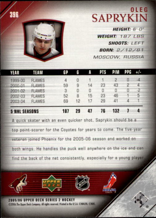 2005-06-Upper-Deck-Hockey-Card-Pick-251-487 thumbnail 293