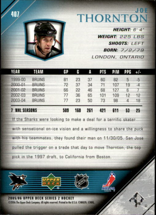 2005-06-Upper-Deck-Hockey-Card-Pick-251-487 thumbnail 315