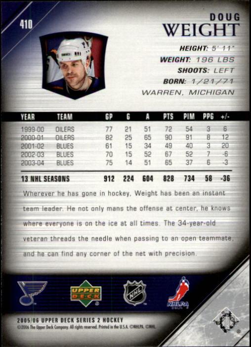 2005-06-Upper-Deck-Hockey-Card-Pick-251-487 thumbnail 321