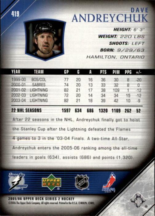 2005-06-Upper-Deck-Hockey-Card-Pick-251-487 thumbnail 339