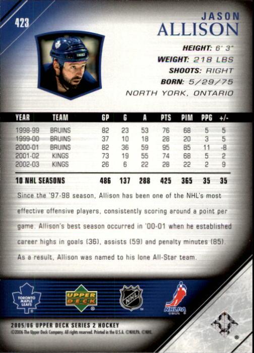 2005-06-Upper-Deck-Hockey-Card-Pick-251-487 thumbnail 347