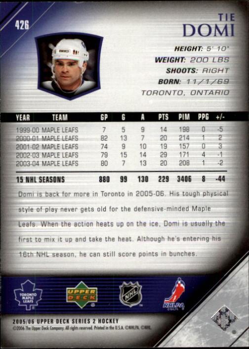 2005-06-Upper-Deck-Hockey-Card-Pick-251-487 thumbnail 353