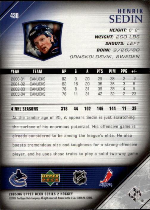 2005-06-Upper-Deck-Hockey-Card-Pick-251-487 thumbnail 361