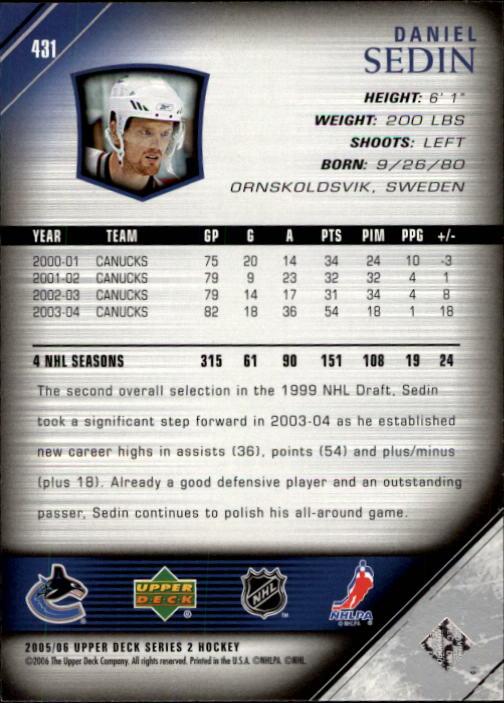 2005-06-Upper-Deck-Hockey-Card-Pick-251-487 thumbnail 363