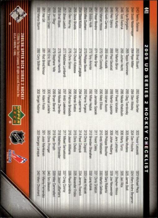2005-06-Upper-Deck-Hockey-Card-Pick-251-487 thumbnail 383