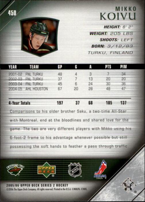 2005-06-Upper-Deck-Hockey-Card-Pick-251-487 thumbnail 395