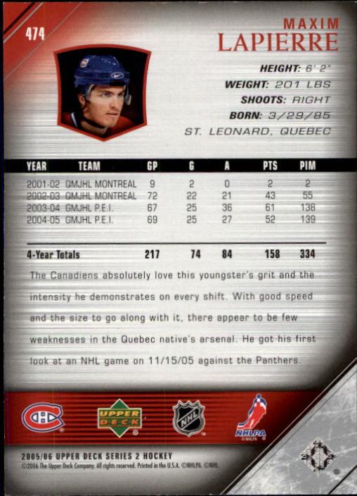 2005-06-Upper-Deck-Hockey-Card-Pick-251-487 thumbnail 436