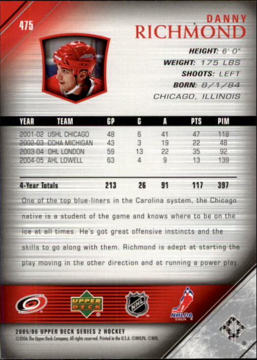 2005-06-Upper-Deck-Hockey-Card-Pick-251-487 thumbnail 438