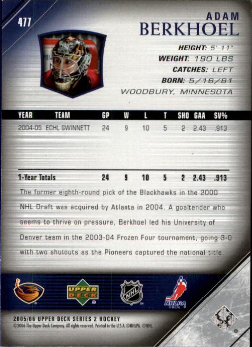 2005-06-Upper-Deck-Hockey-Card-Pick-251-487 thumbnail 442