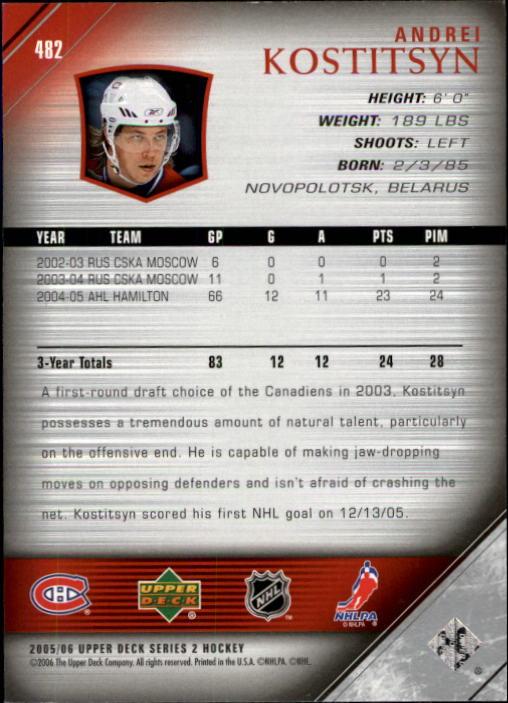 2005-06-Upper-Deck-Hockey-Card-Pick-251-487 thumbnail 452