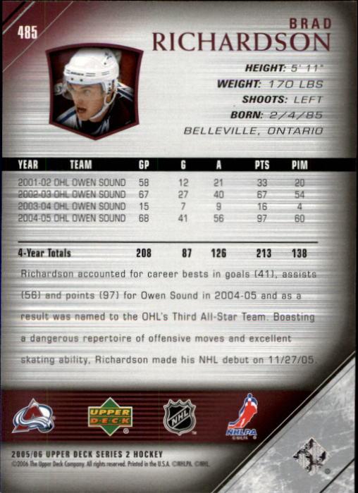 2005-06-Upper-Deck-Hockey-Card-Pick-251-487 thumbnail 456