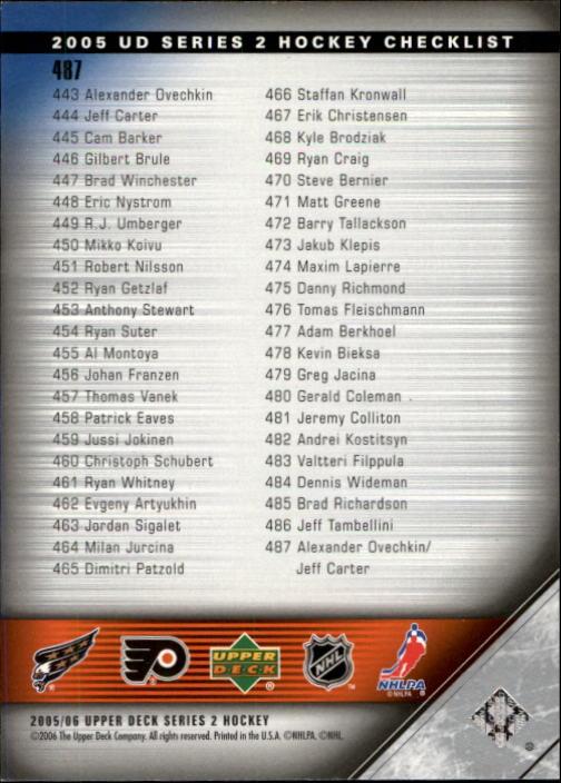 2005-06-Upper-Deck-Hockey-Card-Pick-251-487 thumbnail 458