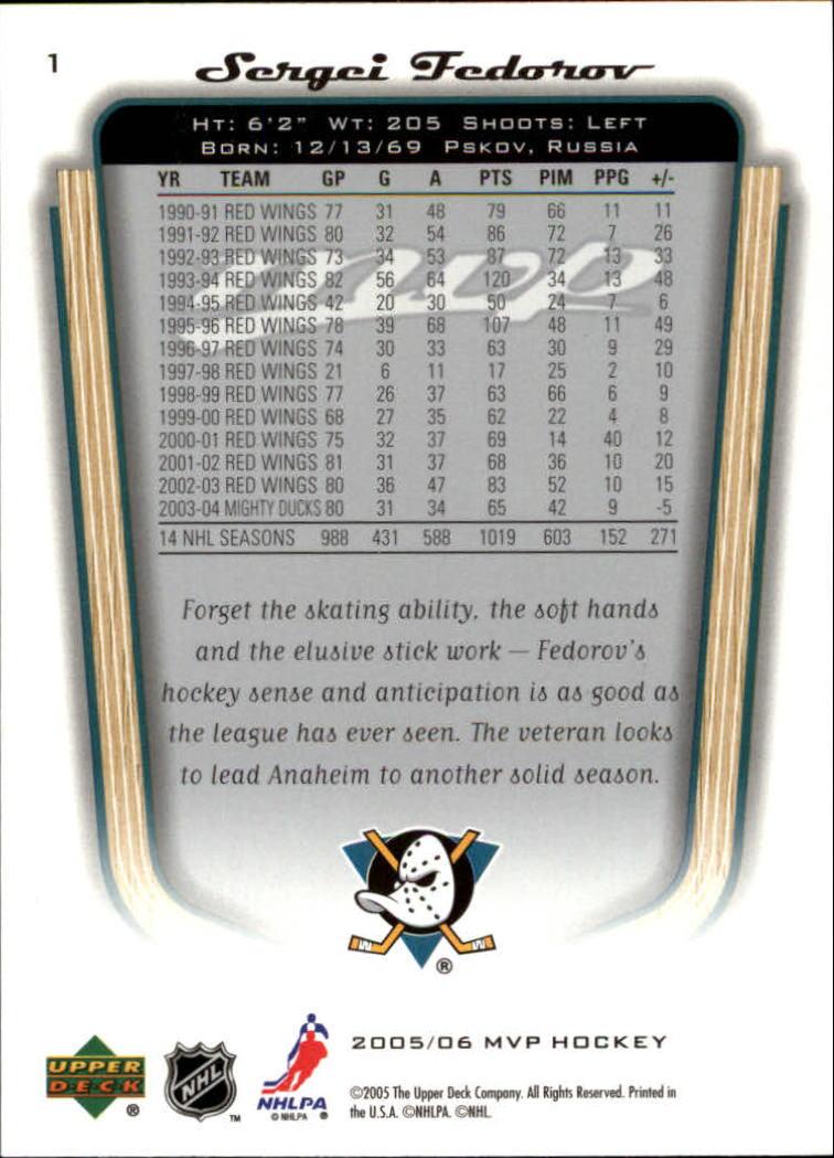 2005-06-Upper-Deck-MVP-Hockey-Card-Pick-1-250 thumbnail 3