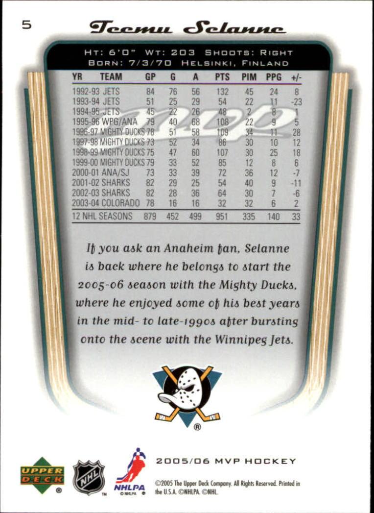 2005-06-Upper-Deck-MVP-Hockey-Card-Pick-1-250 thumbnail 11