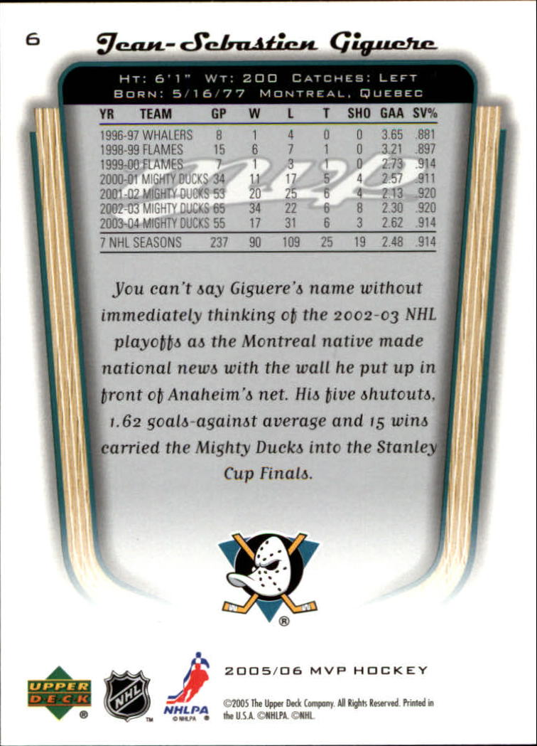 2005-06-Upper-Deck-MVP-Hockey-Card-Pick-1-250 thumbnail 13