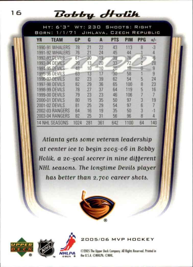 2005-06-Upper-Deck-MVP-Hockey-Card-Pick-1-250 thumbnail 32